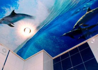 Плюсы и минусы натяжных потолков в ванных