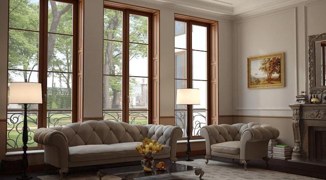 Новые деревянные окна, стеклопакеты и фурнитура – особый шик